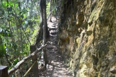 Trail along the precipice